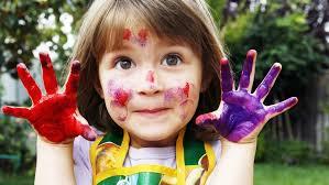 child embraces creativity